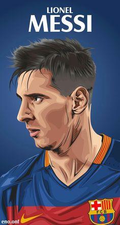 Lionel Messi in FC Barcelona in a drawing version Fifa Football, Football Art, Messi And Ronaldo, Cristiano Ronaldo, Messi 2016, Portrait Vector, Lionel Messi Wallpapers, Leonel Messi, Football Images
