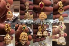 Jewellery Designs: Trendy jhumkas in Light Weight