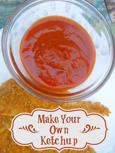 Make your own homemade ketchup and control the sugar and salt. It's really easy and your kids will love it!