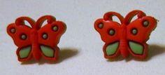 Handmade Butterfly Pierced Earrings