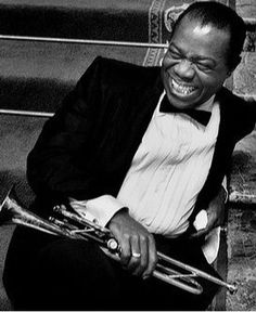 Don't you love Louis? Louis Armstrong on the MGM set of 'High Society', 1956 | Bob Willoughby.