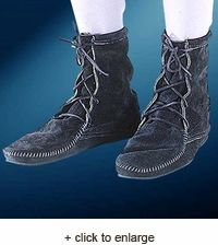 3674d0401 Medieval Low Boot without Fringe Renaissance Boots
