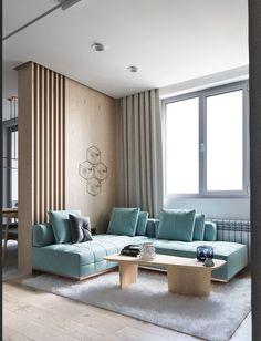 Un appartement contemporain et pastel à Kiev - PLANETE DECO a homes world Living Room Lighting Design, Living Room Decor Colors, Living Room Paint, New Living Room, Living Room Interior, Living Room Designs, Living Area, Sofa Design, Interior Design
