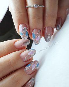Purple Nail Art, Pretty Nail Art, Butterfly Nail Art, Soft Nails, Nagellack Design, Fall Nail Art Designs, Almond Nails Designs, Elegant Nails, Flower Nails