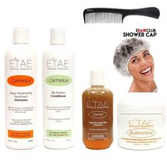 Etae Carmelux Shampoo Conditioner E'tae Carmel Treatment Buttershine Natural Products Ultimate Bundle Combo Kit -- Continue to the product at the image link.