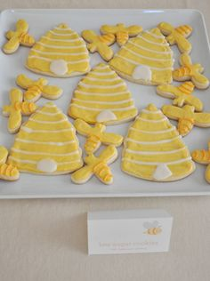 - Blonde Designs Blog - beehive and bumblebee cookies. (I have made this and they are awesome!)