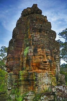 -- Give me a year, Angkor. (Faces of Bayon, Angkor, Cambodia) Cambodia Beaches, Cambodia Travel, Machu Picchu, Laos, History Of Buddhism, Angkor Wat Cambodia, Khmer Empire, Beau Site, Site Archéologique