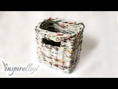 Papierowa wiklina - jak zrobić prostokąty pojemnik - YouTube