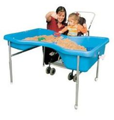 Buy Wheelchair Accessible Sand and Water Table at S&S Worldwide Water Tray, Sand And Water Table, Water Tables, Handicap Accessible Home, Tactile Stimulation, Sensory Garden, Sensory Toys, Sensory Table, Fun Arts And Crafts