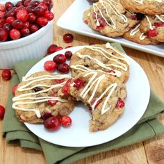 Triple Chocolate Cranberry Pecan Oatmeal cookies -