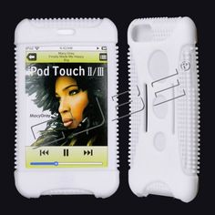 Apple iTouch2/ iTouch3 Premium Skin Solid White with Sport Strap - myaccessoryguy