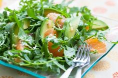 Grapefruit, Avocado & Baby Arugula Salad ~ http://steamykitchen.com