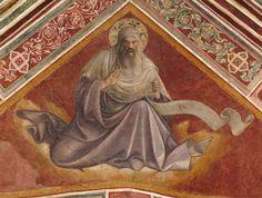 Lorenzo Monaco - Profeta Malachia - affresco - 1420-1424 - Volta - Cappella Bartolini Salimbeni - Firenze, Basilica della S. Trinità