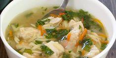 Soupe rapide poulet, citron et orzo - Recettes - Ma Fourchette Mets, Thai Red Curry, Soup Recipes, Chinese, Cooking, Ethnic Recipes, Food, Restaurant, Tapas