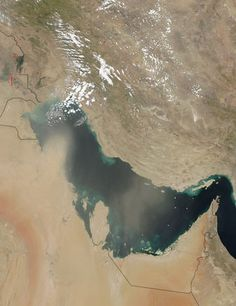 Dust storms over the Persian Gulf