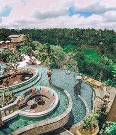 """""""Hey Pool lovers, you guys need to visit this place, called in Ubud, Bali. 💎 Good Vibes Lifestyle 💎 Get your. Pool Bar, Go Spot, Piscina Hotel, Swiming Pool, Resort Villa, Bali Resort, Spa, Swimming Pool Designs, Island Resort"""