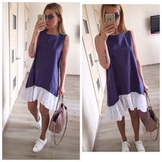 Summer Dresses 2019 Casual Loose Patchwork Sleeveless Ruffles O-Neck Mini Dress Fashion Women Dress Vestidos - Pothead Clothing - Women's Clothing Store in Cape Town offers online shopping for women, from dresses to bikinis, rompers, lingerie and more. Vestidos Sexy, Dress Vestidos, Mini Vestidos, Vestidos Vintage, Casual Summer Dresses, Summer Dresses For Women, Dress Summer, Summer Skirts, Women's Fashion Dresses