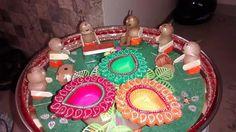 Aarti  thali made with supari...