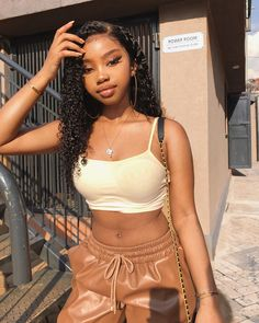 Human Hair Wigs Water Wave Inch Lace Frontal Wig Density For Sale Pretty Black Girls, Beautiful Black Girl, Fine Black Girls, Light Skin Girls, Brown Skin Girls, Baddie Hairstyles, Black Girls Hairstyles, Curly Hair Styles, Natural Hair Styles