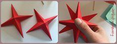 3D Stern basteln: zusammenkleben
