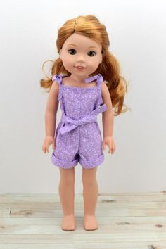 "14.5"" Doll Clothes - Romper for Wellie Wishers and Hearts for Hearts Girl Dolls - Little Doll Closet ( LDC Products on Pinterest )"