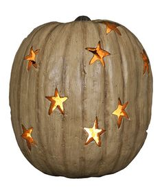 White 12'' Antique Lighted Pumpkin by Primitives by Kathy on #zulily today!