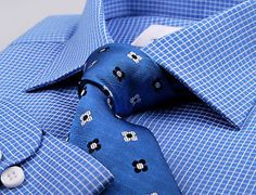 Blue Formal Business Dress Shirt Single Button Cuffs Professional Mens Clothing   eBay