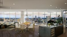 New Downtown Austin residential tower Fifth Condo Interior Design, Apartment Design, High Rise Apartments, Luxury Penthouse, Penthouse Apartment, Condo Decorating, Austin Texas, Custom Wood, Chicago