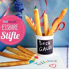 Edible pencils - perfect party food for a starting school/ back to school celebration.