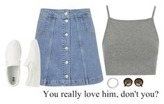 """you really love him, don't you?"" by btravis5252 ❤ liked on Polyvore featuring Topshop, Uniqlo, ASOS and H&M"