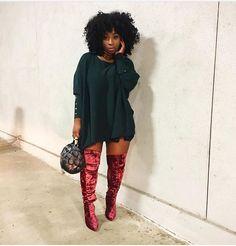 Pin by Melissa Cardoso on fashionista in 2019 Thick Girl Fashion, Black Women Fashion, Curvy Fashion, I Love Fashion, Fashion Looks, Womens Fashion, Fashion Pics, Winter Looks, Fall Looks