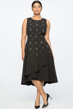 Women Sleeveless Black Cocktail Dress for women. This is one of my favorite dresses in a sleeveless style that is perfect for cocktails or special occassion. This black sleeveless dress is designed to fit plus sizes.  A5 #PlusSizeDresses #getthelook #PlusSize #PlusSizeFashion #PlusSizeStyle #CurvyGirl #boldcurvyfashionista #curvesarein #curvesfordays #curvy #curvyfashionista #Fashion #Style #PlusSizeDresses