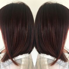 Painted mulit-tonal cherry lob✌️
