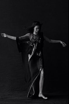 Mariacarla Boscono by Peter Lindbergh for Vogue Italia January 2014