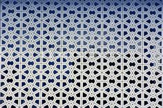 Breathable Wall. Islamic patterns on the walls of a mosque — Stock Photo #6146574