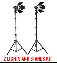 Impact Qualite 300 Focusing Flood 2 Light Kit