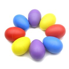 Pair of Egg Shakers Rattle Rustling Plastic Percussion Musical Toy for KTV Party Kids Games