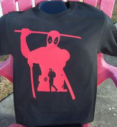 Deadpool Super Silhouette T-Shirt by DJsDecals on Etsy