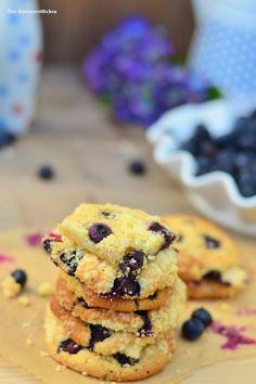 Blaubeer Muffin Crumble Cookies Mit Weißer Schokolade | Das Knusperstübchen