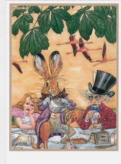 ANGEL DOMINQUEZ ALICE IN WONDERLAND mouse hare Mad party Russian modern postcard | eBay