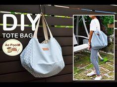 DIY TOTE BAG // EASY MAKING// วิธีทำกระเป๋าสะพายก้นมะเฟืองแบบง่ายๆ - YouTube Bag Pattern Free, Bag Patterns To Sew, Tote Pattern, Japanese Knot Bag, Leather Bag Pattern, Diy Tote Bag, Diy Handbag, Patchwork Bags, Simple Bags