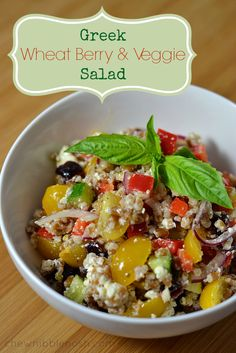 and Wheat Berry Salad with Cranberry Vinaigrette | Wheat Berry Salad ...