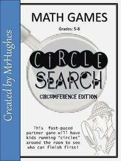 If you are looking for a new way this upcoming school year to help your students remember how to find the circumference of a circle...then THIS IS IT! Fast-paced partner game that gets the whole class up and moving. My students LOVE to play this one!