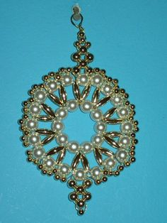 Lacy Orb Christmas Ornament Bead Craft Kit-heirloom quality beads