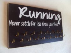 Running medals display