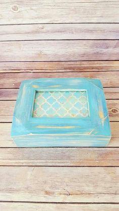 $45 Wood Jewelry Box  Rustic Jewelry Box  Turquoise Jewelry Box