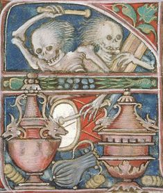 """""""When the band hits the stage"""" Medieval Tattoo, Medieval Art, Medieval Manuscript, Illuminated Manuscript, The Sky Is Falling, Dance Of Death, Medieval Paintings, Horror, Danse Macabre"""