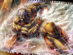 Sterling artwork of the Armored Titan.