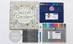 Secret Garden Pens and Pencils - Johanna Basford's picks for best markers to color with: