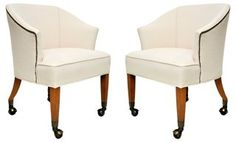 Midcentury Club Chairs,  Pair | VMF - Furniture | One Kings Lane